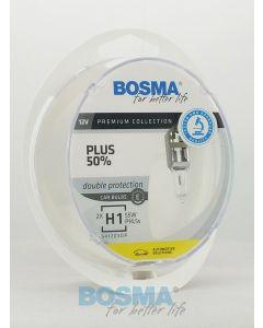 BOSMA PLUS 50% H1 12V 55W P14,5S (2SZT.)