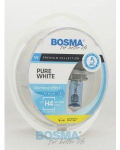 BOSMA PURE WHITE H4 12V 60/55W P43T (2SZT.)